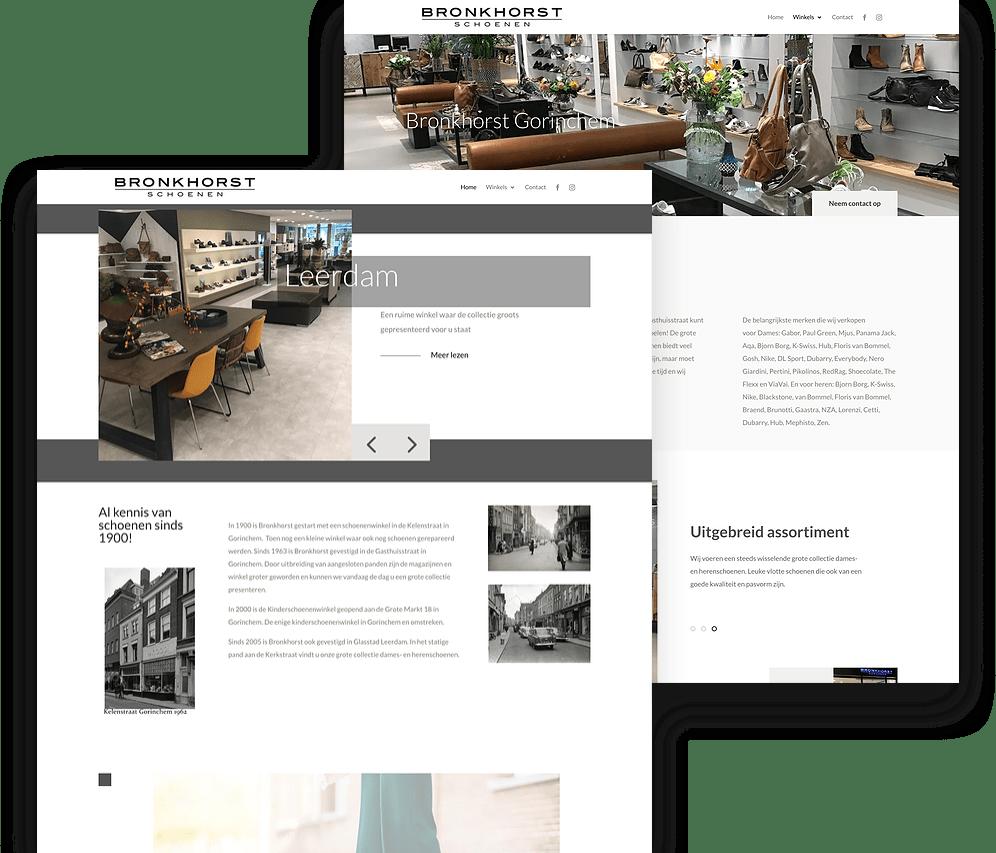 Realisatie website Bronkhorst Schoenen | bronkhorst schoenen website 3