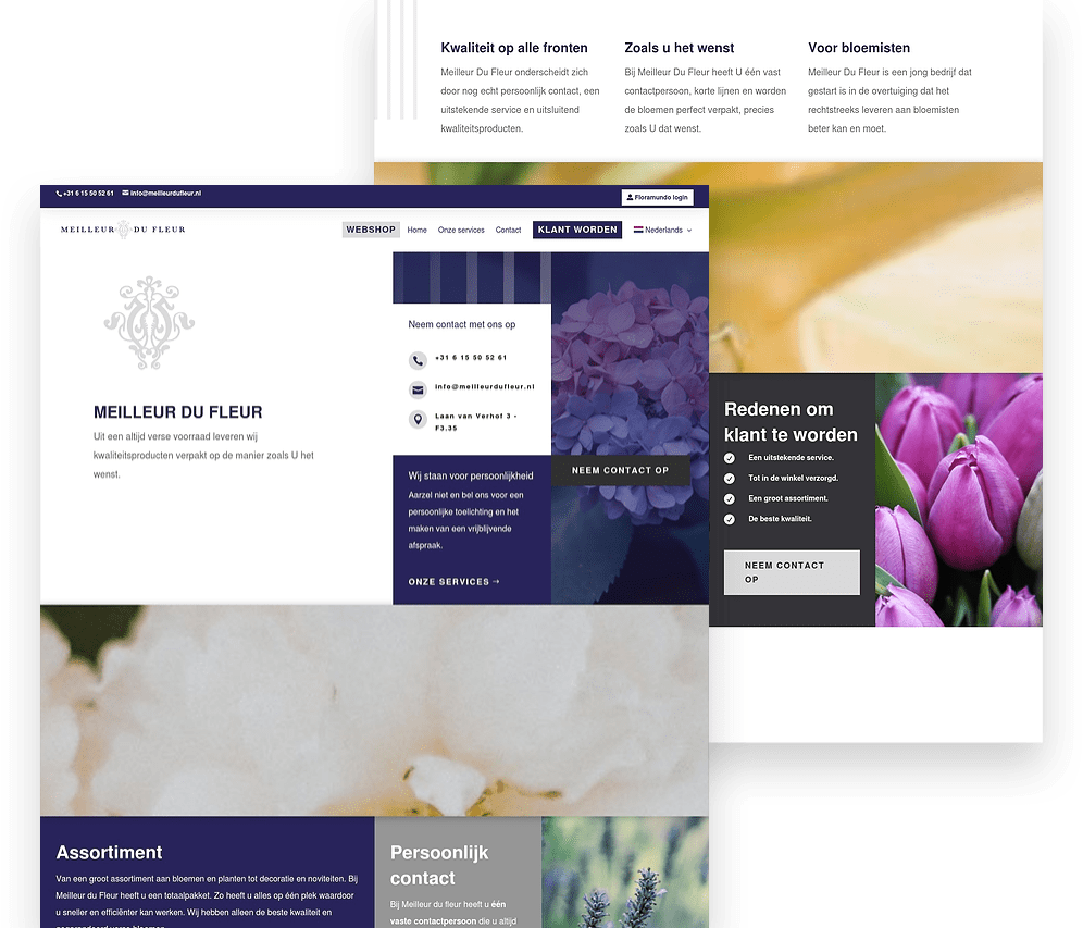 Website realisatie Meilleur du Fleur | meilleur fleur screen layers 3