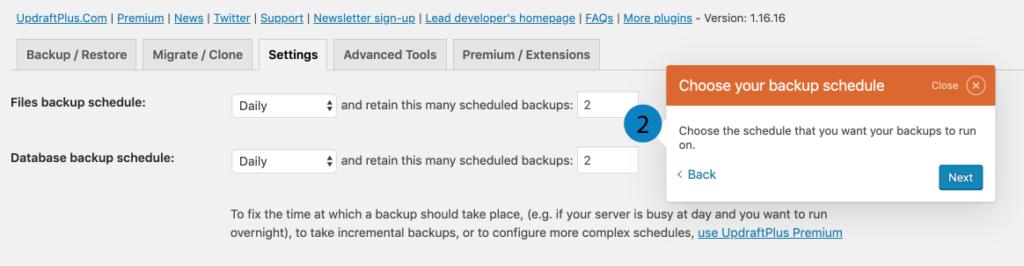 Hoe kan je een backup maken van je WordPres website? | backup frequentie 9