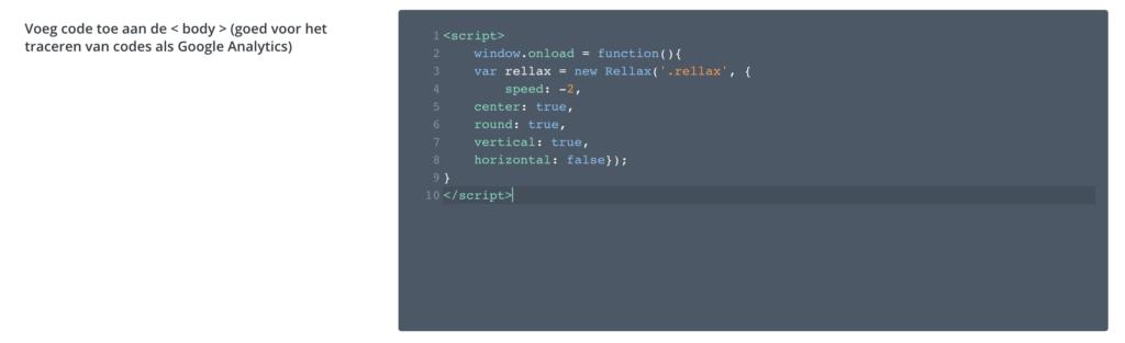 Zo gebruik je rellax.js met Divi binnen 5 minuten | rellax toevoegen body divi 5