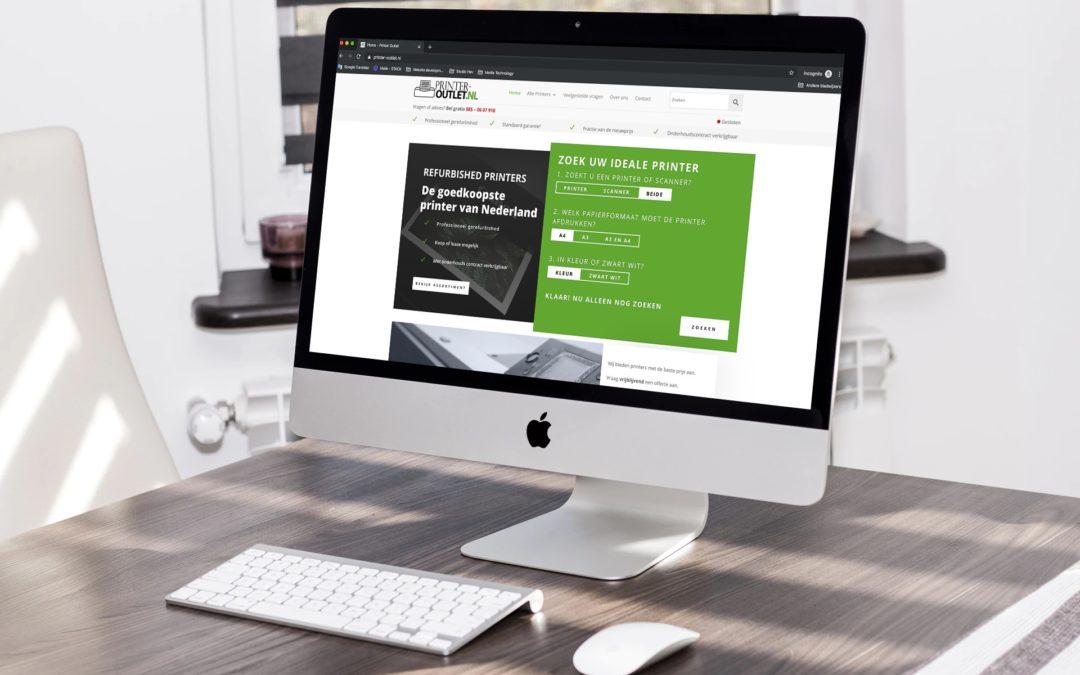Webshop realisatie Printer Outlet