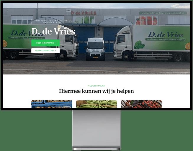 Website realisatie de Vries AGF